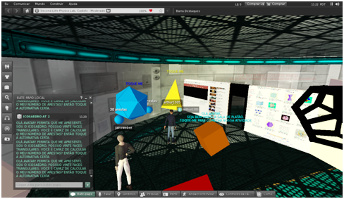artigo 'Reality in virtual space: micro-worlds for teaching geometry'. WEBER, Jairo M.; dos SANTOS, Renato P.