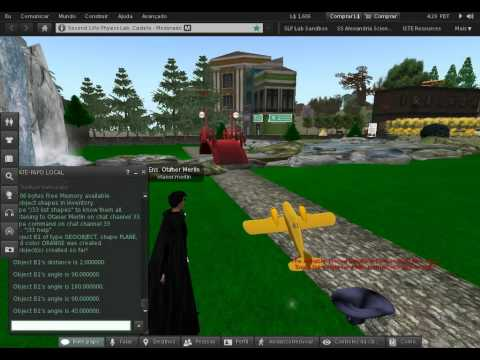 Examples of virtual immersive 3D collision simulation with TATI