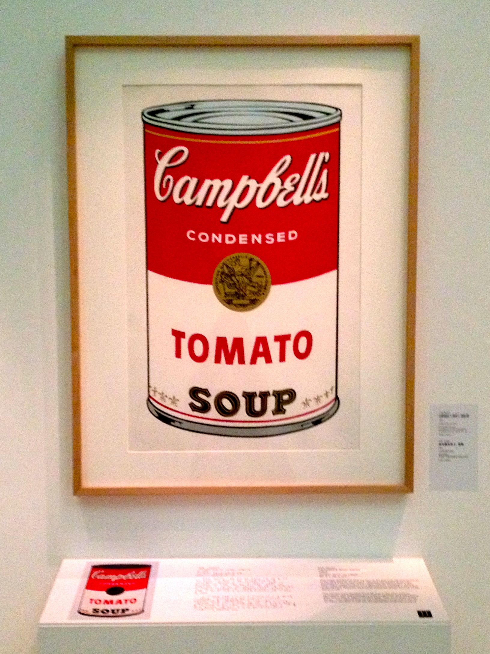 'Campbell's Soup Can'. Andy Warhol